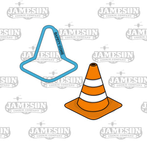 Safety Cone Cookie Cutter - Construction Theme Birthday Party - Orange Cone