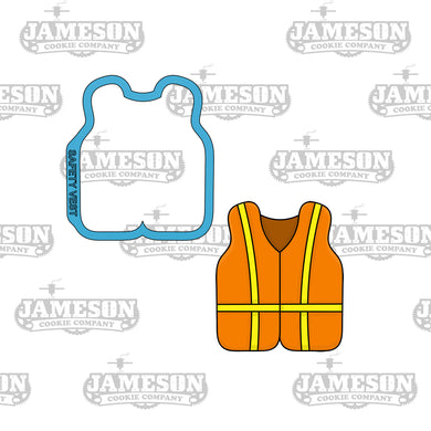 Safety Vest Cookie Cutter - Construction Theme Birthday Party - Safety Jacket