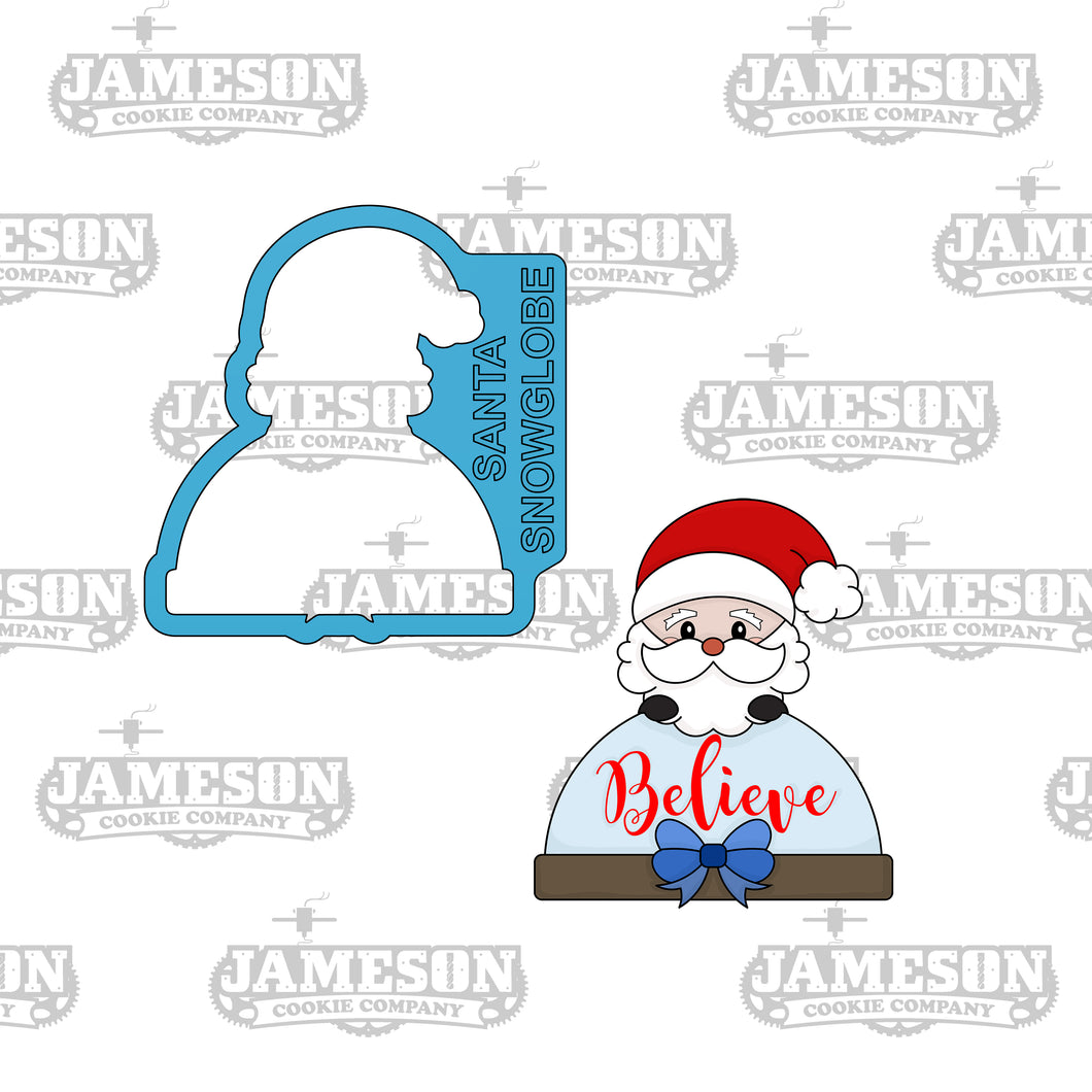 Santa Snow Globe Cookie Cutter - Christmas