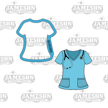 Load image into Gallery viewer, Nurse Appreciation Cookie Cutter Set - Doctor Medical Theme - Scrubs, Hat, Pill, Bandaid, Mask, Syringe