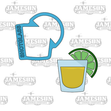 Shot Glass with Lime Cookie Cutter - Cinco De Mayo Theme