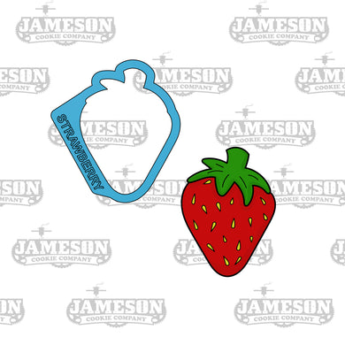 Strawberry Cookie Cutter - Food, Fruit Cookie Cutters
