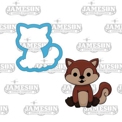 Woodland Creature Squirrel Cookie Cutter - Animal Birthday Party Cookie Cutter