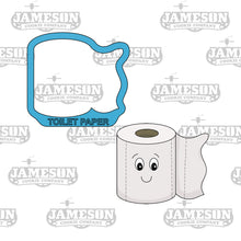 Load image into Gallery viewer, Poop Emoji and Toilet Paper Cookie Cutter Set - TP