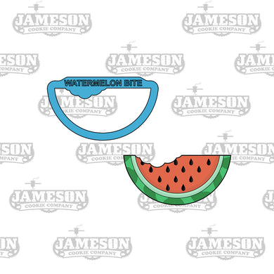 Watermelon with Bite Cookie Cutter - Summer Theme - Food Theme