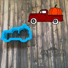 Load image into Gallery viewer, Truck Hauling Pumpkin Cookie Cutter - Fall Truck Cookie Cutter
