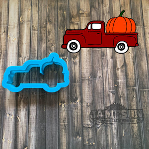 Truck Hauling Pumpkin Cookie Cutter - Fall Truck Cookie Cutter
