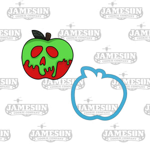 Poison Apple Cookie Cutter - Halloween Cookie Cutter