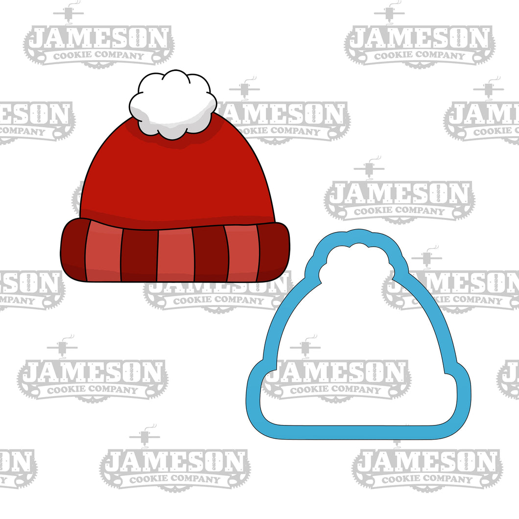 Winter Hat Cookie Cutter - Beanie Cookie Cutter - Christmas Cookie Cutter