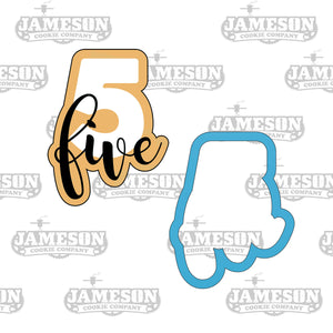 Number Five Cookie Cutter - Birthday Number Plaque - Number 5