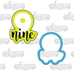 Number Cookie Cutter Set - Birthday Number Script - Plaque - Number Seven Eight Nine - 7 8 9