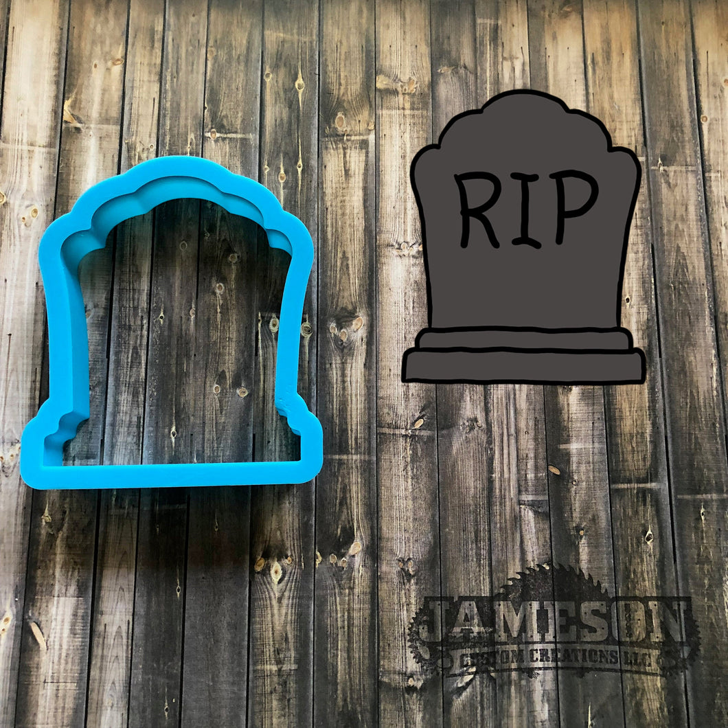 Tombstone Cookie Cutter - Headstone Cookie Cutter - Halloween