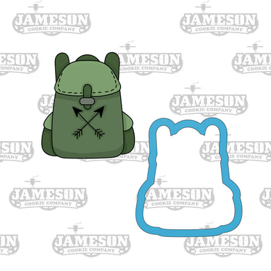 Camping Backpack Cookie Cutter - Backpacking - School Backpack