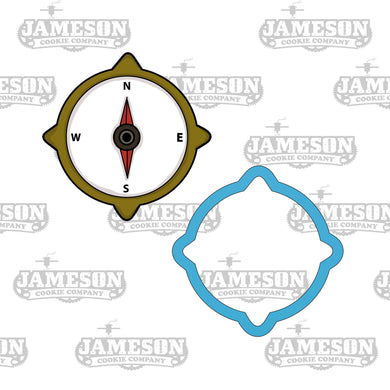 Camping Navigation Compass Cookie Cutter - Hiking - Trail