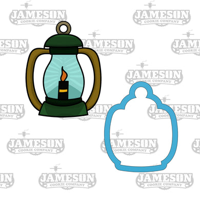 Camping Lantern Cookie Cutter - Camping Light - Candlelight