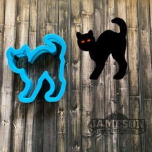 Load image into Gallery viewer, Cat Cookie Cutter - Spooky Black Cat Cookie Cutter