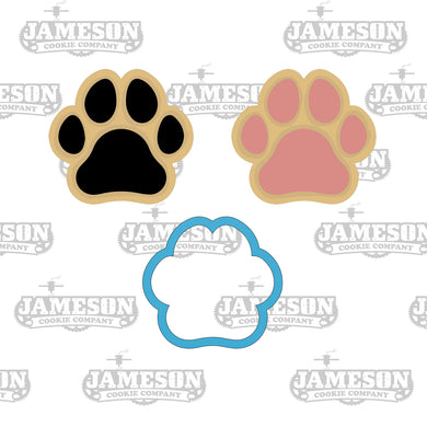 Dog Paw Cookie Cutter - Pet Footprint - Animal Paws