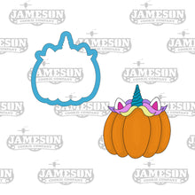 Load image into Gallery viewer, Unicorn Pumpkin Cookie Cutter - Fall - Halloween