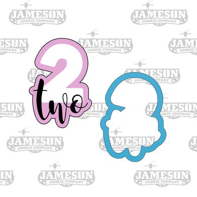 Number Two Cookie Cutter - Birthday Number Plaque - Number 2