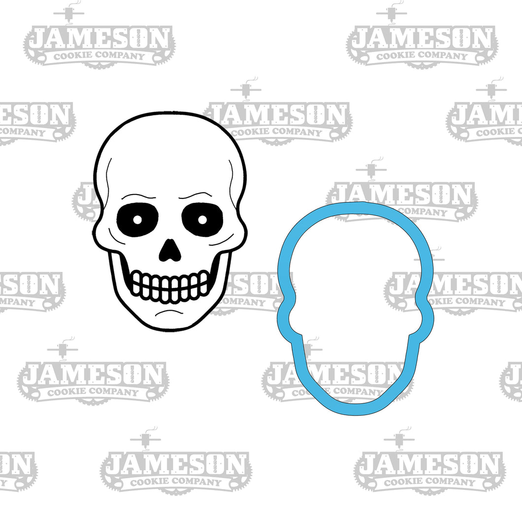 Day of the Dead Skeleton Head Cookie Cutter - Skull