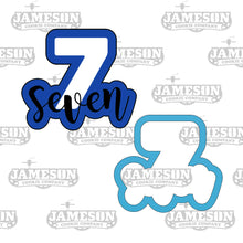 Load image into Gallery viewer, Number Seven Cookie Cutter - Birthday Number Plaque - Number 7