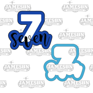 Number Seven Cookie Cutter - Birthday Number Plaque - Number 7