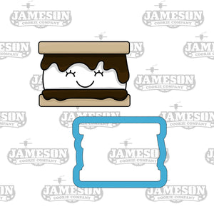 Camping Smore Cookie Cutter - Chubby S'mores Cookie Cutter
