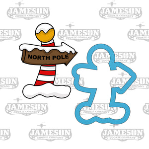 North Pole Sign Cookie Cutter - Santa Clause - Christmas Cookie Cutter