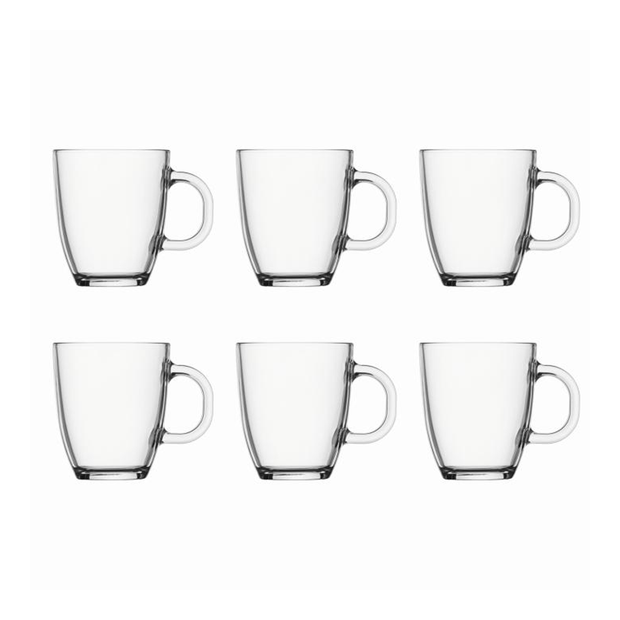 Bodum | 6 x Bistro Coffee Mugs Transparent