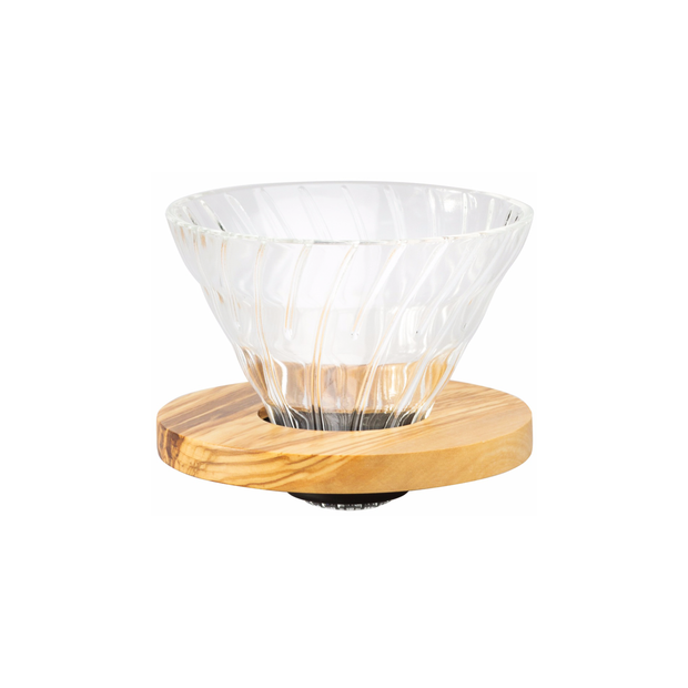 Hario | V60 Glass Dripper 02 | Olive Wood