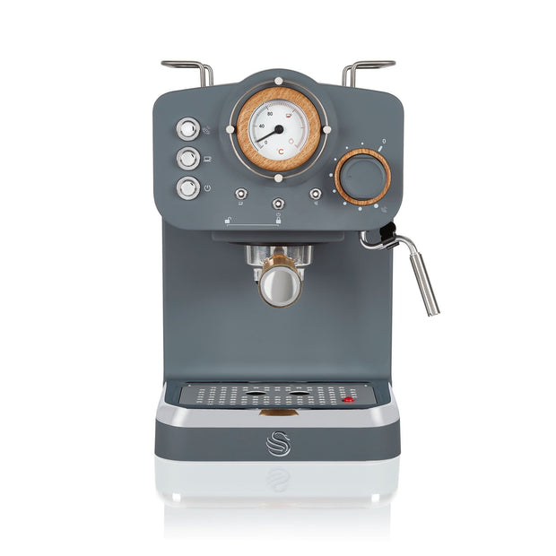 Swan Nordic Coffee Machine Grey Front