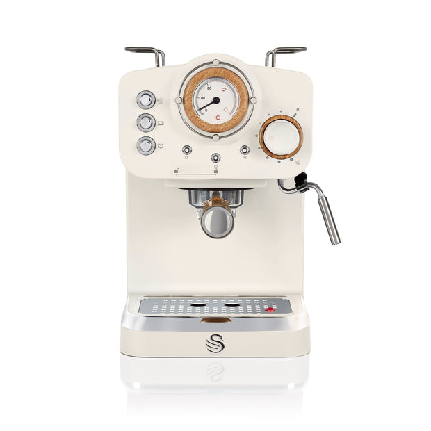 Swan Nordic Coffee Machine White Front