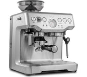 Sage The Barista Express Coffee Machine - Silver (side)