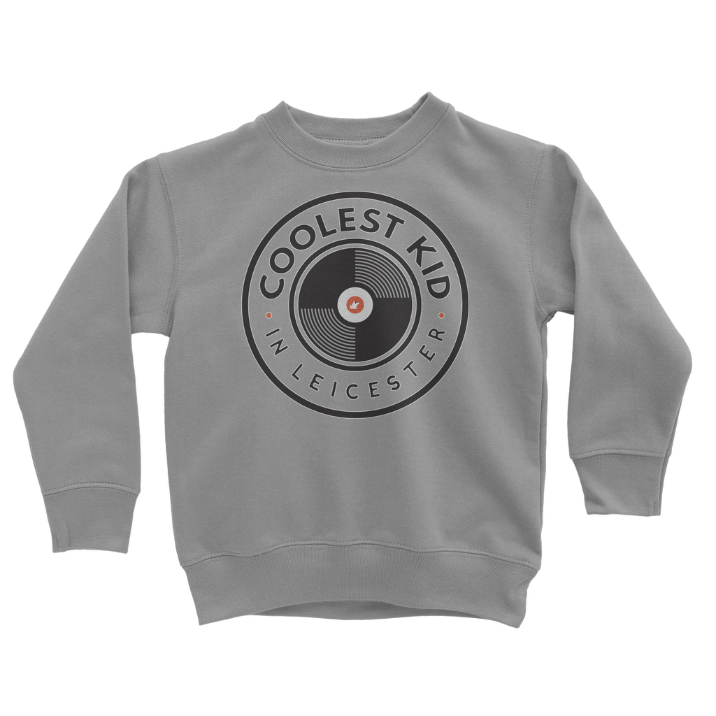 Coolest Kid in Leicester Sweatshirt (Grey • White)