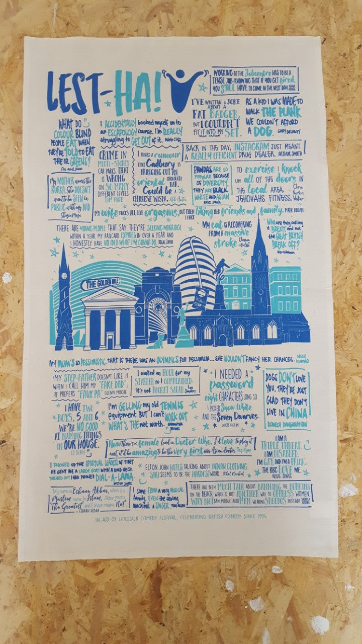 Leicester Comedy Festival Tea Towel