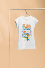 "Load image into Gallery viewer, Crafty Sew & So ""Sewing Forever"" T-shirt"