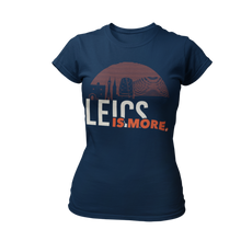 Load image into Gallery viewer, Leics is More Ladies T-shirt (Black • Navy)