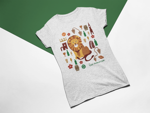 The Two-Tailed Lion Ladies T-shirt