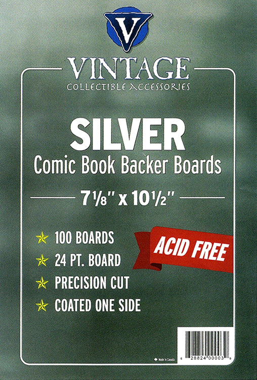 "Vintage Collectibles Silver 7 1/8"" Board 24pt x100"