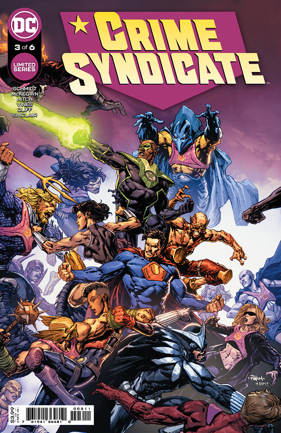 CRIME SYNDICATE #3 (OF 6) CVR A DAVID FINCH