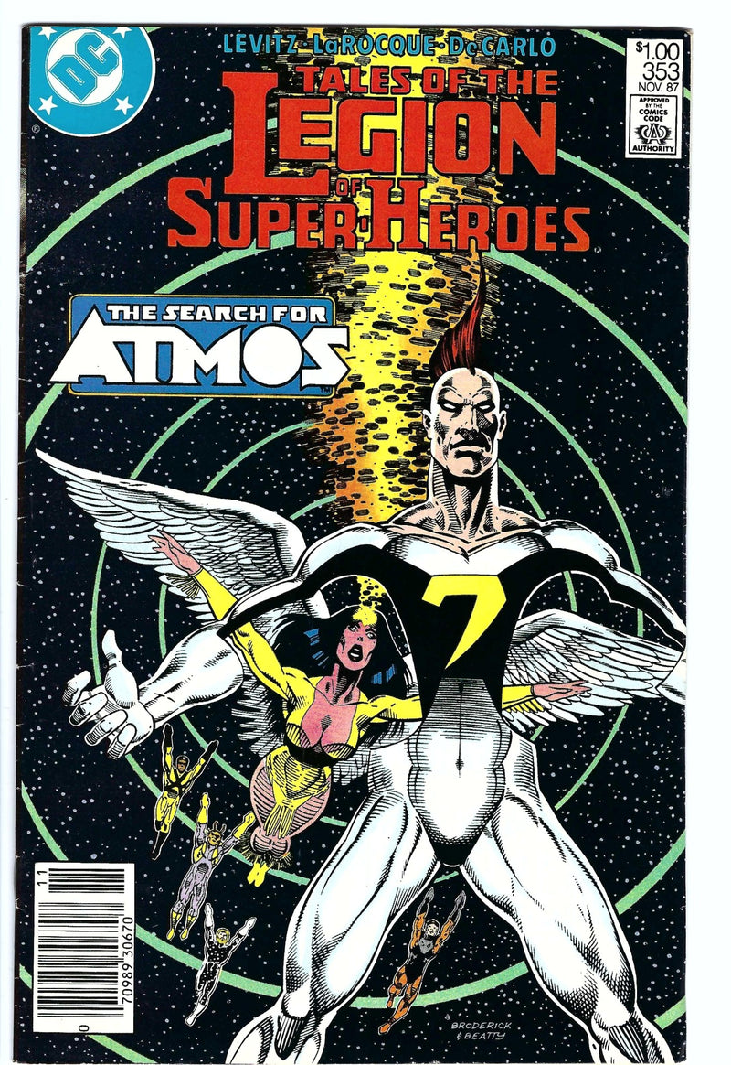 Tales of the Legion of Super-Heroes 353 Newstand-DC-CaptCan Comics Inc