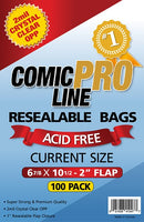 "Comic Pro Line Current 6 7/8"" Resealable Bag 2mil x100"