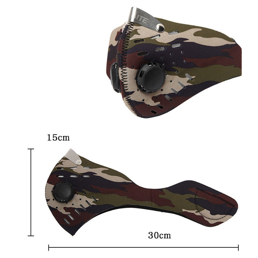 Activated Carbon Camouflage Face Protection