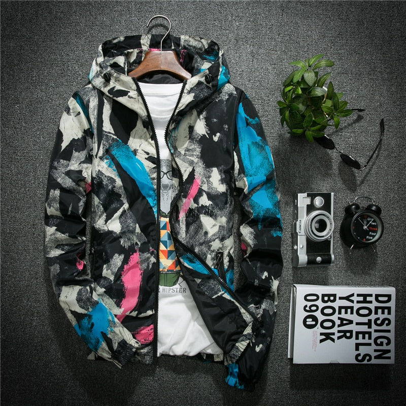 RichLife | Graffiti Print Windbreaker