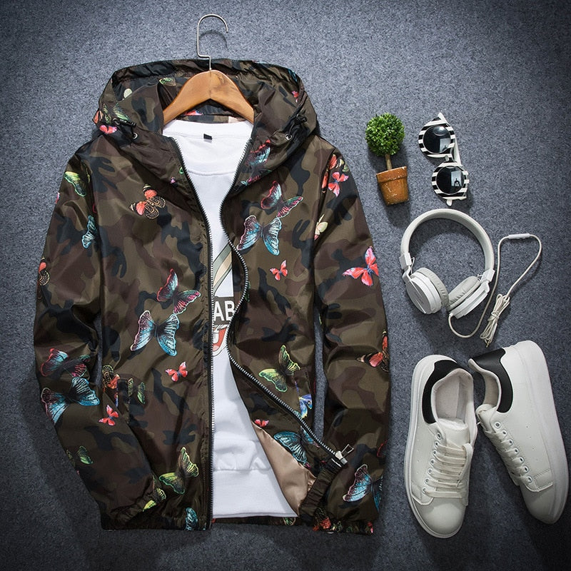 RichLife Camouflage Butterfly Windbreaker