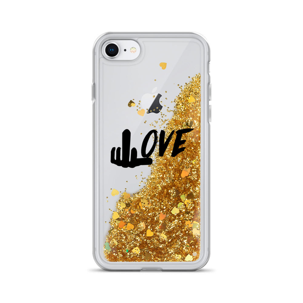 "RichLife | ""F"" Love Liquid Glitter Case"