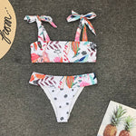 RichLife | High Waist Bikini Leaf Print