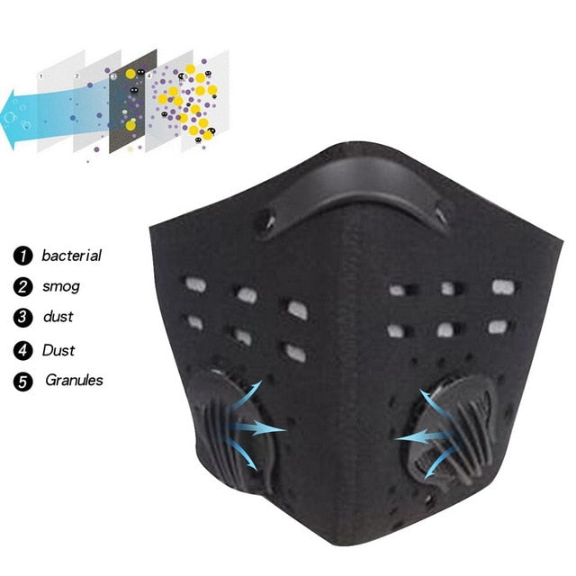 Anti Dust Mask Half Face Mask Safety Breathing Mask Cycling Half Face Mask Respirator Activated Anti Cold Sports Mask|Masks