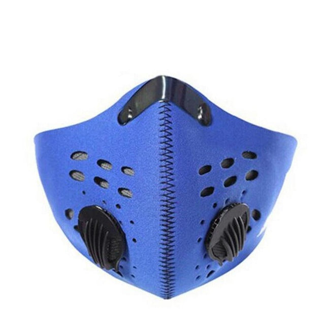 Cycling Face Mask | Activated Carbon Breathing Valve | Anti Pollution Filter