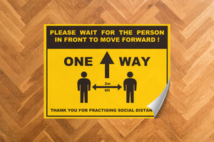 One Way Non Slip Floor Sticker 400x300mm (5 Pack)